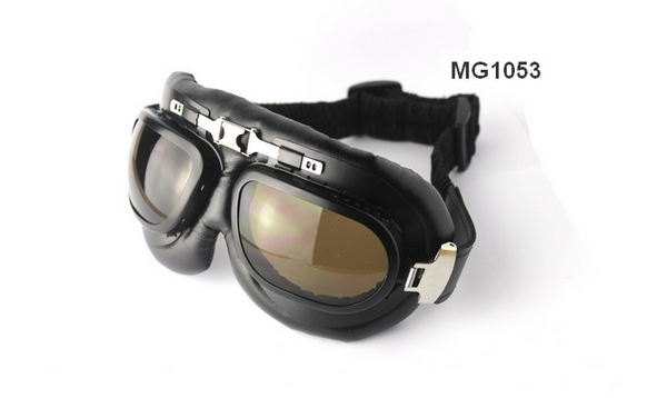MG1053 leather motorcycle goggles