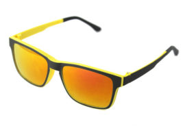C002 mirrored clip on sunglasses